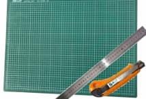 Base de Goma Para Corte 60 x 45 + Regla + Cutter - Mercería - Cutter y Base para Tela
