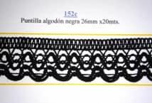 Puntilla Algodón Negra 26 mm. (20) - Puntillas y Broderie - Puntillas y Entredos de Algodón