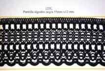 Puntilla Algodón Negra 55 mm. (12) - Puntillas y Broderie - Puntillas y Entredos de Algodón
