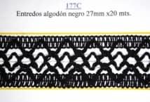 Entredós Algodón Negra 27 mm. (20) - Puntillas y Broderie - Puntillas y Entredos de Algodón
