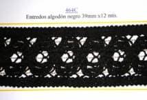 Entredós Algodón Negra 39 mm. (12) - Puntillas y Broderie - Puntillas y Entredos de Algodón