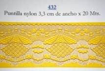Puntilla Nylon 3,3 cm ancho (20) - Puntillas y Broderie - Puntillas de Nylon