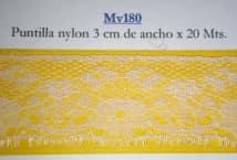 Puntilla Nylon 3 cm ancho (20) - Puntillas y Broderie - Puntillas de Nylon