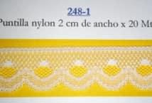 Puntilla Nylon 2 cm ancho (20) - Puntillas y Broderie - Puntillas de Nylon