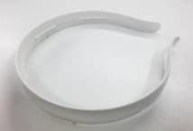 Vincha Plástica 20mm Blanca para Forrar por 10 Unidades - Accesorios para el Cabello - Accesorios para el Cabello