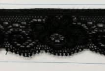 Puntilla Elastizada 25 mm Negra Precio x metro (Pieza 20 Mts) - Puntillas y Broderie - Puntillas Elastizadas (Lycra)