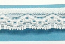 Puntilla Elastizada 20 mm Blanca Precio x metro (Pieza 20 Mts) - Puntillas y Broderie - Puntillas Elastizadas (Lycra)