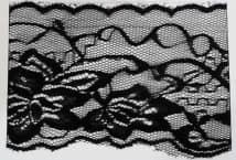 Puntilla Nylon 70 mm Negra Precio x metro (Pieza 10 Mts) - Puntillas y Broderie - Puntillas de Nylon