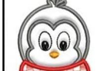 Aplicación Raso Bordada Pinguino Grande (precio unitarios) (blíster x2) - Aplicaciones - Aplicaciones
