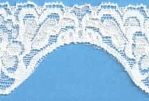 Puntilla lycra blanca (10). Precio por Metro - Puntillas y Broderie - Puntillas Elastizadas (Lycra)