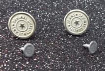 Botón vaquero niquel opaco por 50 unidades - Mercería - Botones
