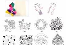 Kits Bordado Mexicano: Aguja, Lanas, Dibujo e Instrucciones. - Mercería - Tapices para Bordado