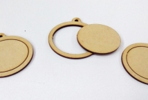 Mini Bastidor Ovalado Horizontal 3mm espesor x3 unidades - Mercería - Bastidores