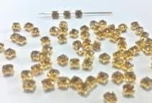 Strass para coser Dorado N°16 x36 unidades - Mercería - Strass