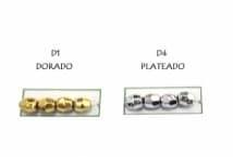 Perla N°4 Metalizada Facetada por 25 Gramos - Mercería - Perlas