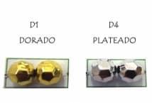 Perla N°8 Metalizada Facetada por 25 Gramos - Mercería - Perlas