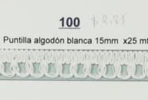 Puntilla Algodón Blanca 15 Mm (25) - Puntillas y Broderie - Puntillas y Entredos de Algodón